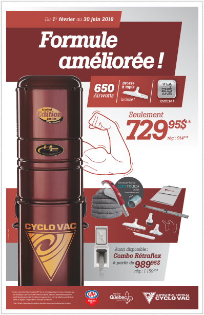 Promotion aspirateur Cyclovac (Special printemp 2016)